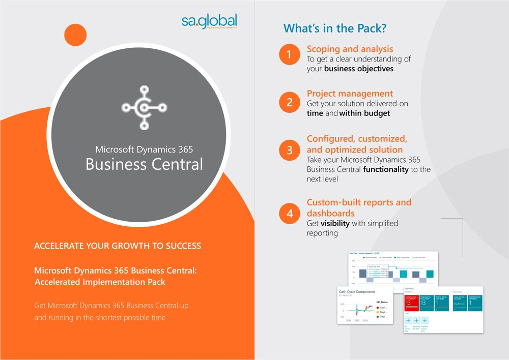 Microsoft Dynamics 365 Business Central: sa.global Accelerated Implementation Pack
