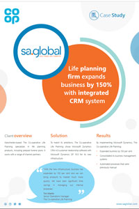 Life planning firm expands business by 150% with integrated<br>CRM system
