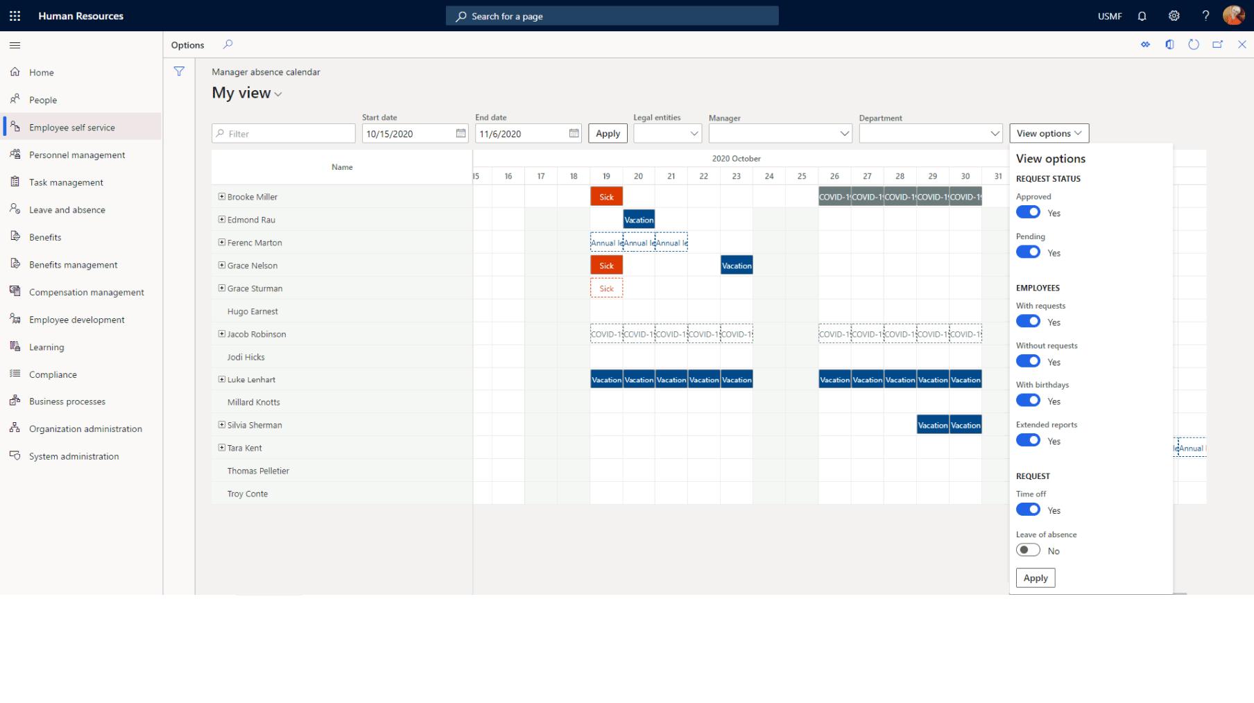 Microsoft Dynamics 365 Human Resources features: Optimize processes
