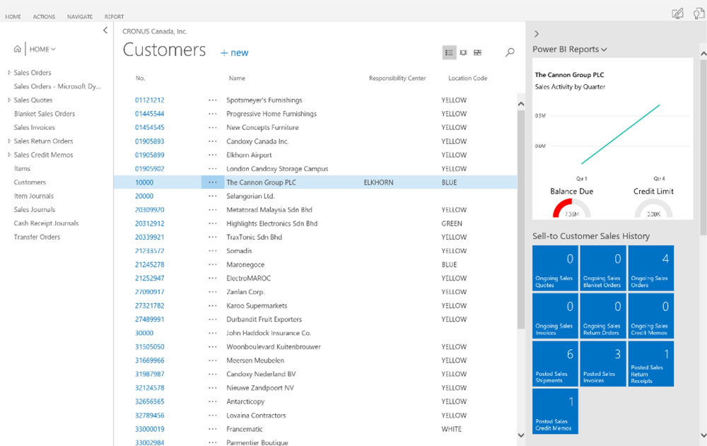 Microsoft Dynamics NAV: Features