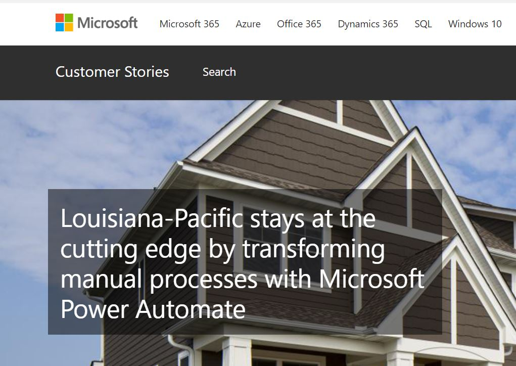Louisiana-Pacific stays at the cutting edge by transforming manual processes with Microsoft Power Automate