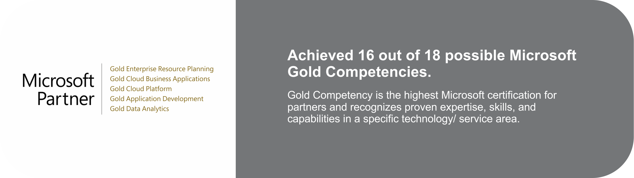 sa.global achieved 16 out of 18 possible Microsoft Gold Competencies