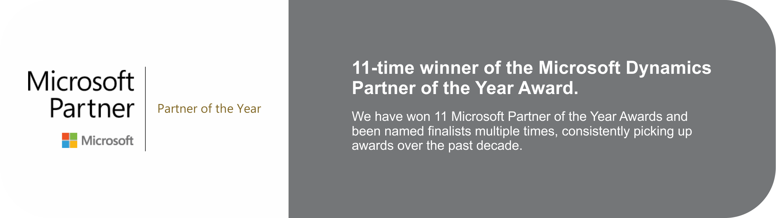 sa.global 11 times winner of the Microsoft Dynamics Partner of the year award